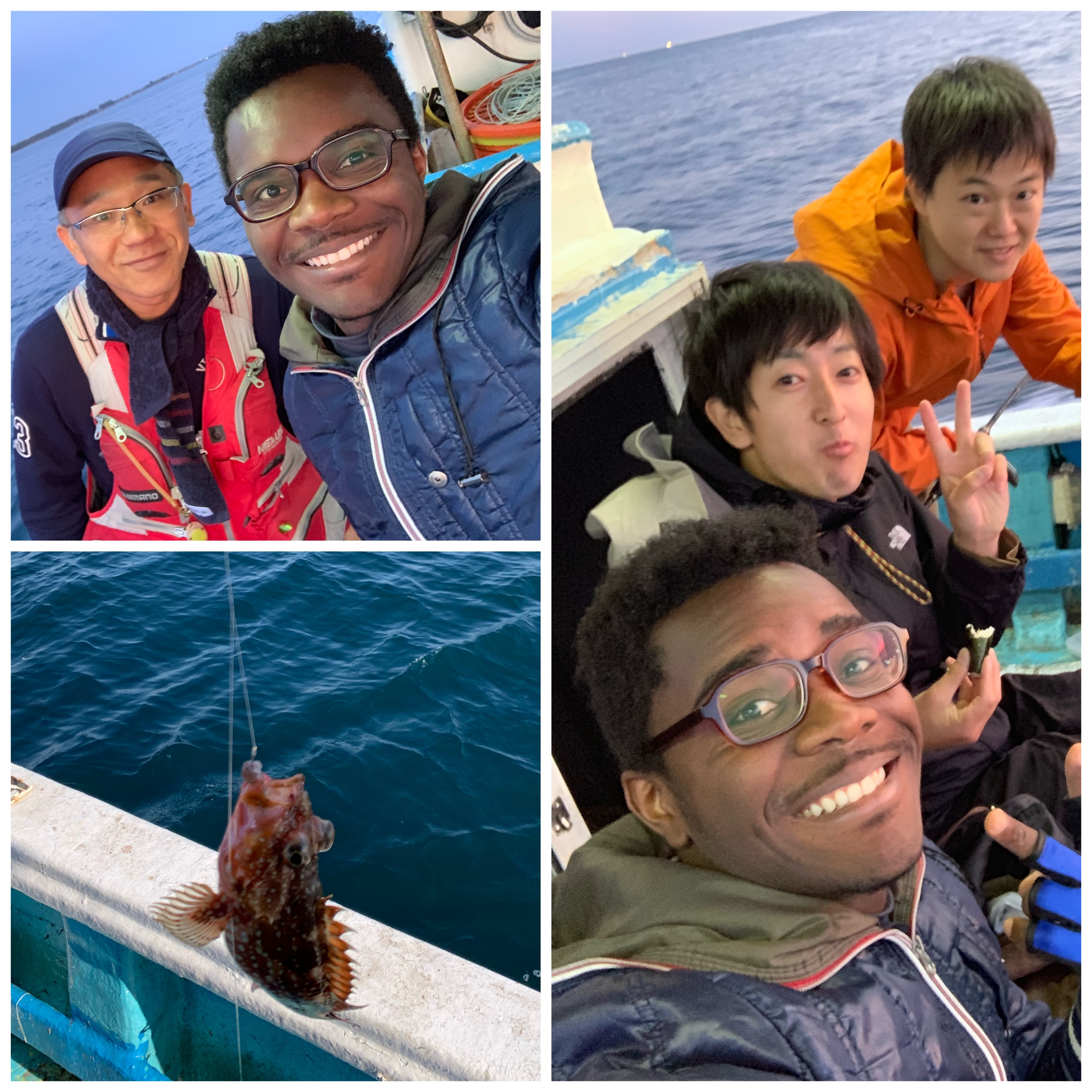 Fishing trip with colleagues